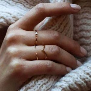 Gold Thin Simple Open Ring